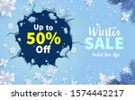 winter sale with ice and... | Shutterstock .eps vector #1574442217
