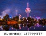 Germany  Colorful Illuminated...
