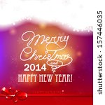 merry christmas and happy new... | Shutterstock .eps vector #157446035