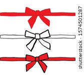 hand drawn bows collection ... | Shutterstock .eps vector #1574501287