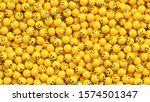 many yellow balls with smiling... | Shutterstock .eps vector #1574501347