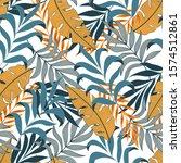 original seamless tropical... | Shutterstock .eps vector #1574512861