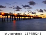 Sunrise At Dania Pier In Ft...