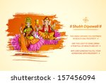 illustration of goddess lakshmi ... | Shutterstock .eps vector #157456094