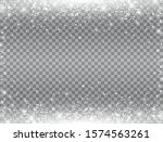 shining snow border. snow... | Shutterstock .eps vector #1574563261