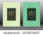 arabesque pattern vector cover... | Shutterstock .eps vector #1574576557