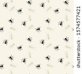 ants monochrome drawing... | Shutterstock . vector #1574577421