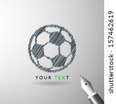 soccer ball sketch icon in vector format