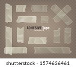 realistic transparent adhesive... | Shutterstock .eps vector #1574636461