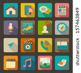 flat icons set for web and... | Shutterstock .eps vector #157463849