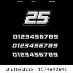 vector number set racing decals | Shutterstock .eps vector #1574642641