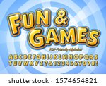 fun and games is a kid friendly ... | Shutterstock .eps vector #1574654821