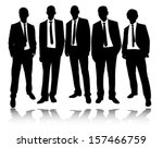 group of businessmen standing... | Shutterstock .eps vector #157466759