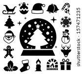 christmas icon set.illustration ...