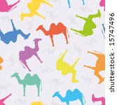 seamless pattern with camels | Shutterstock .eps vector #15747496
