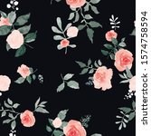 seamless pattern with spring... | Shutterstock .eps vector #1574758594
