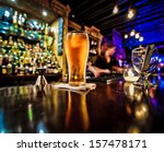 pint of beer on a bar in a... | Shutterstock . vector #157478171