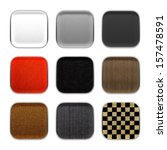 blank app icon fabric material...