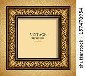 vintage gold frame  antique... | Shutterstock .eps vector #157478954