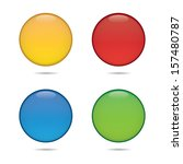 blank colorful round icons | Shutterstock .eps vector #157480787