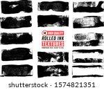14 rolled ink rectangle textures | Shutterstock .eps vector #1574821351