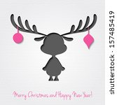 christmas card | Shutterstock .eps vector #157485419