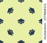 blue graduation cap icon... | Shutterstock .eps vector #1574868121