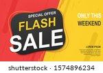 flash sale banner template ... | Shutterstock .eps vector #1574896234