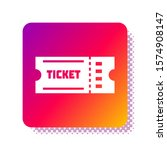 white ticket icon isolated on... | Shutterstock .eps vector #1574908147