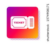 white ticket icon isolated on... | Shutterstock .eps vector #1574908171