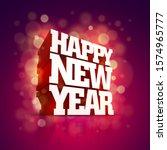 vector 3d happy new year... | Shutterstock .eps vector #1574965777