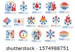a set of hvac logo design ...   Shutterstock .eps vector #1574988751