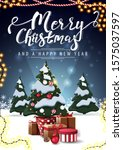 merry christmas and happy new... | Shutterstock .eps vector #1575037597