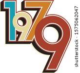 1979 Birthday Vintage Color Numbers