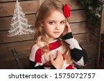 Little Girl In Christmas...