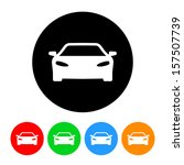 car icon with color variations. ... | Shutterstock . vector #157507739