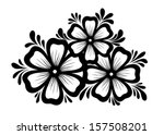 beautiful black and white...   Shutterstock .eps vector #157508201