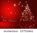 christmas tree gold and red | Shutterstock .eps vector #157510661