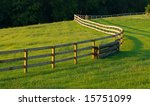 A Long Wooden Fence Winds...