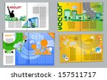 magazine pages of city skyline. ... | Shutterstock .eps vector #157511717