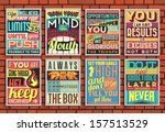 set of retro vintage... | Shutterstock .eps vector #157513529