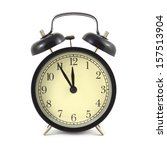 alarm clock in black case and... | Shutterstock . vector #157513904