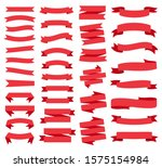 red ribbon banners  template... | Shutterstock .eps vector #1575154984