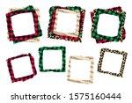 christmas various frames set ... | Shutterstock .eps vector #1575160444