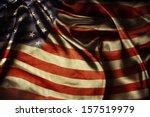 closeup of ruffled american... | Shutterstock . vector #157519979