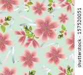 cherry blossom vector... | Shutterstock .eps vector #157520051