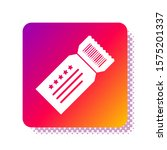 white ticket icon isolated on... | Shutterstock .eps vector #1575201337