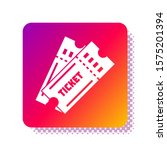 white ticket icon isolated on... | Shutterstock .eps vector #1575201394
