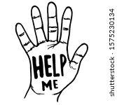 doodle black outline human hand ...   Shutterstock .eps vector #1575230134