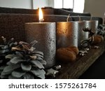First Silver Advent Candle Lit
